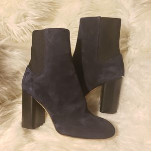 Rag & Bone navy blue suede agnes ankle boots